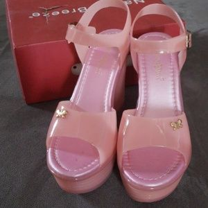 de2dba1e76d1 Nature Breeze · WEDGE PINK COLORED JELLY SANDAL
